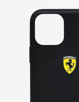 Scuderia Ferrari Online Store - Black hard case with carbon fibre print for iPhone 11 Pro Max - Smartphone Accessories