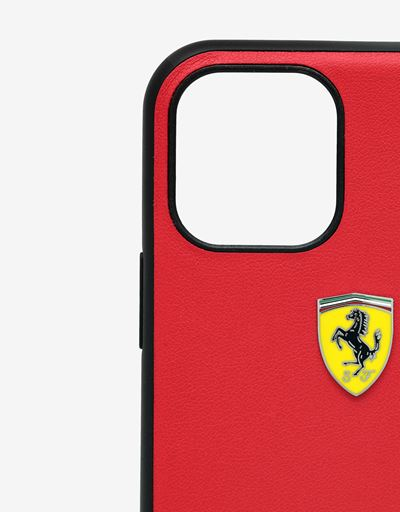Scuderia Ferrari Online Store - Rigid red case with carbon fiber print for iPhone 11 Pro - Smartphone Accessories