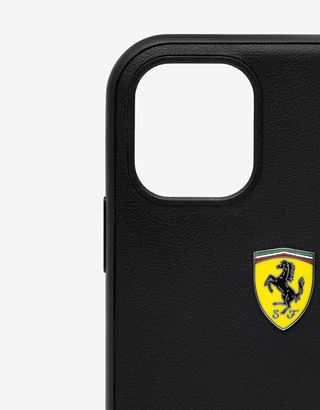 Scuderia Ferrari Online Store - Rigid black case with carbon fiber print for iPhone 11 - Smartphone Accessories