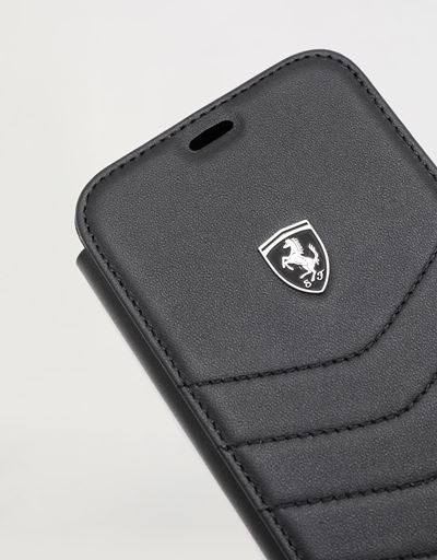 Scuderia Ferrari Online Store - Black leather wallet case for iPhone XR - Smartphone Accessories