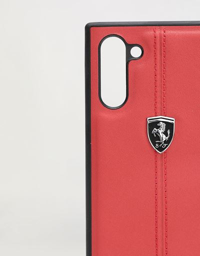 Scuderia Ferrari Online Store - Red leather hard case for Samsung Galaxy Note 10 - Smartphone Accessories