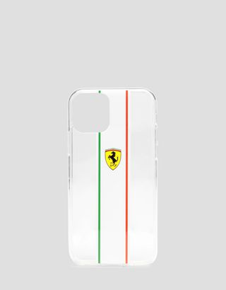 Scuderia Ferrari Online Store - Clear cover with Italian flag for iPhone 11 Pro - Smartphone Accessories
