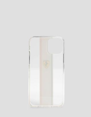 Scuderia Ferrari Online Store - Прозрачный чехол с триколором для iPhone 11 Pro - Аксессуары для смартфонов