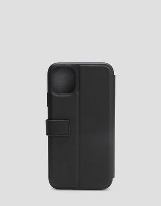 Scuderia Ferrari Online Store - iPhone 11 黑色皮革翻盖手机壳 - 智能手机配饰