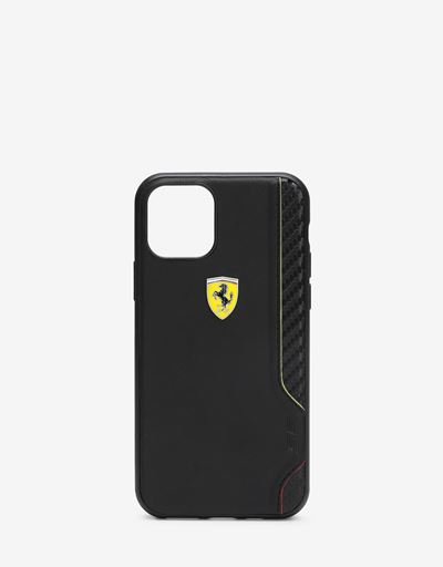 Rigid black case with carbon fiber print for iPhone 11 Pro