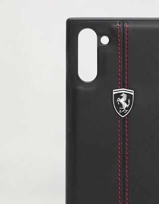 Scuderia Ferrari Online Store - Rigid black leather case for Samsung Galaxy Note 10 - Smartphone Accessories