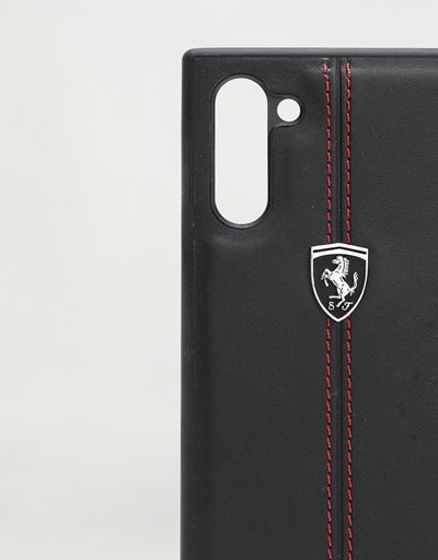 Scuderia Ferrari Online Store - Black leather hard case for Samsung Galaxy Note 10 - Smartphone Accessories