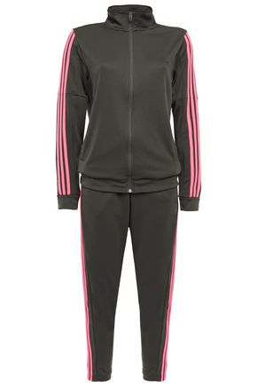 ADIDAS Team Sports striped jersey track jacket and pants set