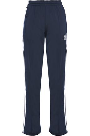 ADIDAS ORIGINALS Grosgrain-trimmed stretch-jersey track pants