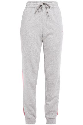 ADIDAS French cotton-blend terry track pants
