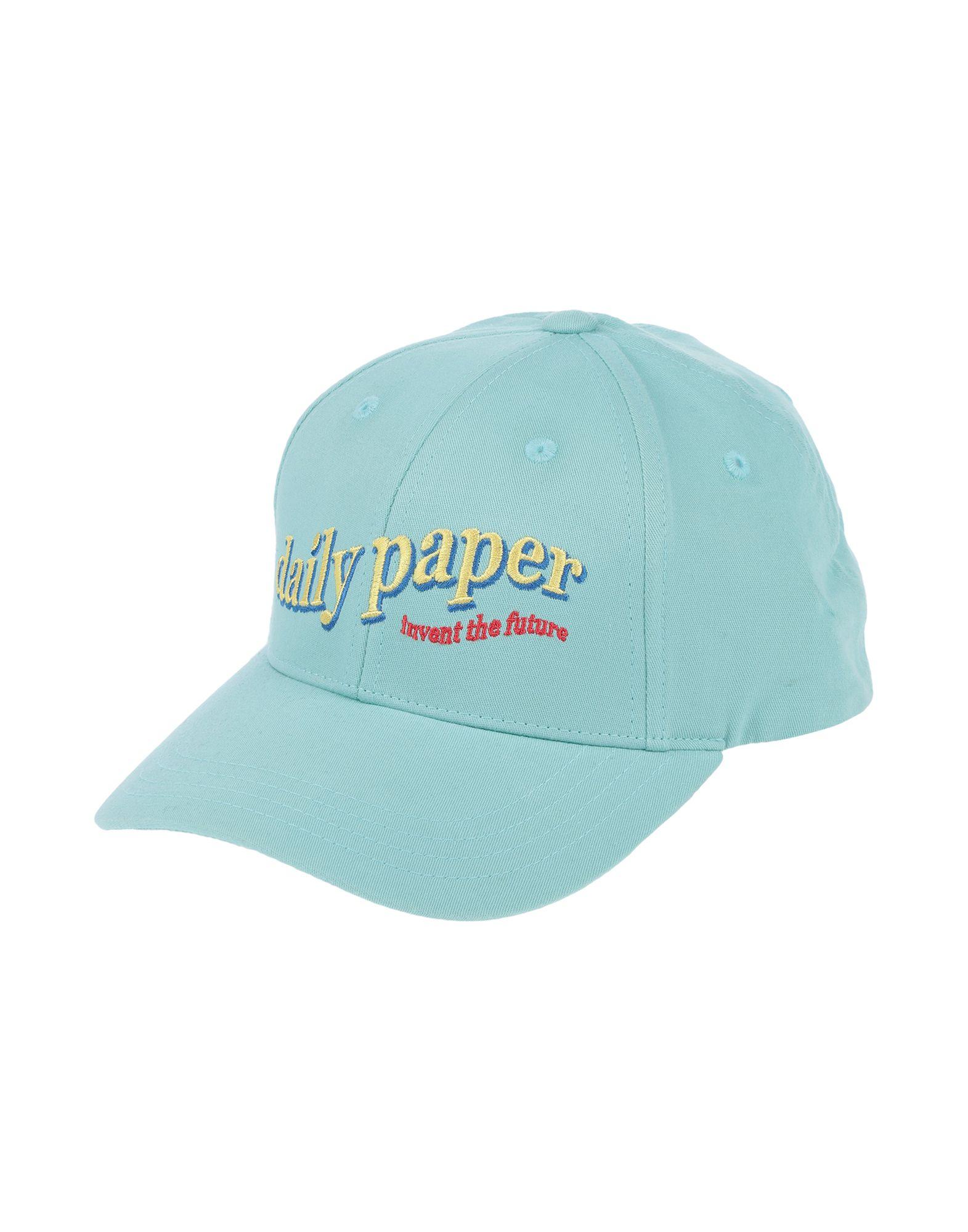 《セール開催中》DAILY PAPER メンズ 帽子 ライトグリーン one size コットン 100%
