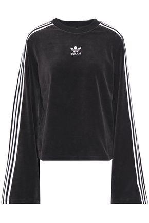 ADIDAS ORIGINALS Cotton-blend velour sweatshirt