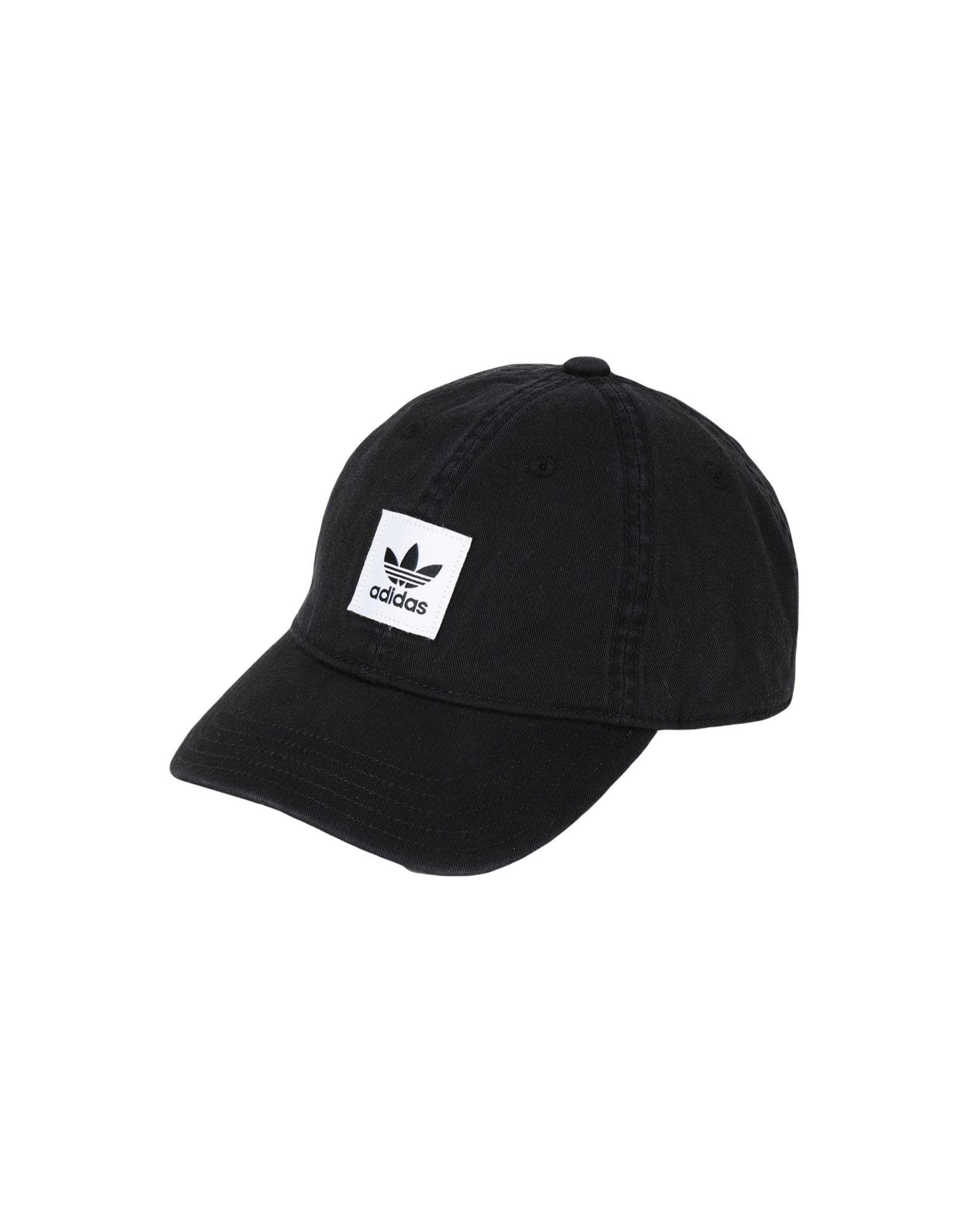 《セール開催中》ADIDAS ORIGINALS Unisex 帽子 ブラック one size コットン 100% WASHED-DAD-CAP