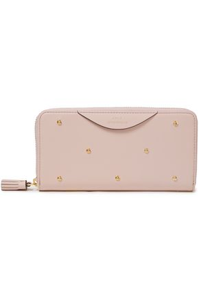 ANYA HINDMARCH Hexagon studded leather continental wallet