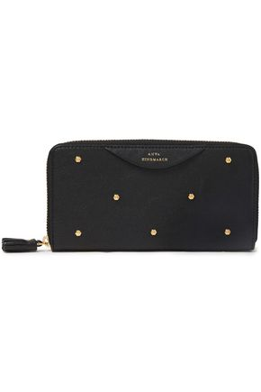 ANYA HINDMARCH Hexagon studded textured-leather continental wallet