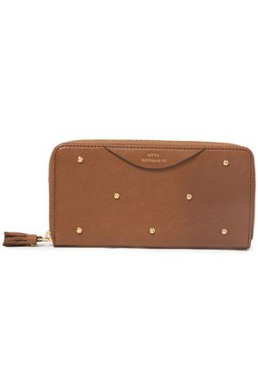 ANYA HINDMARCH Studded textured-leather continental wallet