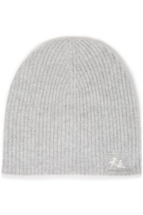 RAG & BONE Logo-embroidered ribbed cashmere beanie