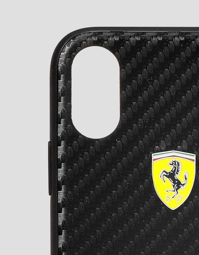Scuderia Ferrari Online Store - Black soft touch case for iPhone X and XS - Smartphone Accessories