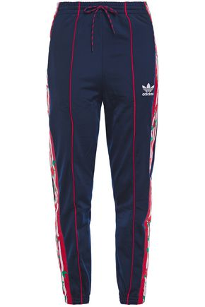 ADIDAS ORIGINALS Jacquard-trimmed stretch-jersey track pants