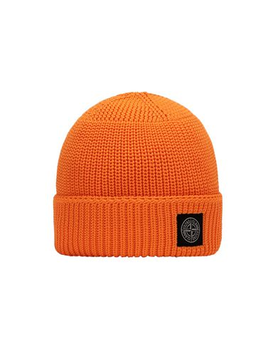 STONE ISLAND KIDS N02A8 Hat Man Fluo orange EUR 72