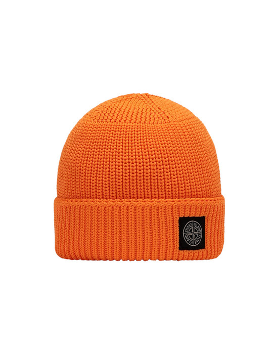 STONE ISLAND JUNIOR N02A8 Hat Man Fluo orange
