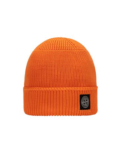 STONE ISLAND JUNIOR N02A8 Hat Man Fluo orange USD 65