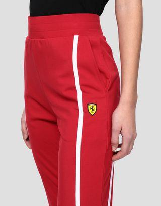 Scuderia Ferrari Online Store - Women's joggers in Milano rib - Joggers