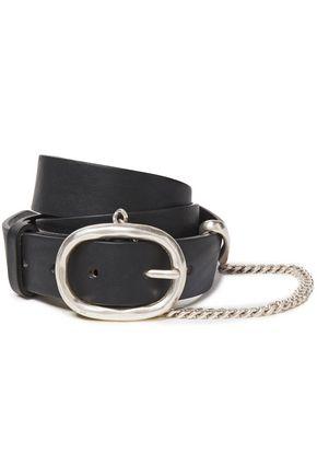 RAG & BONE Chain-embellished leather belt