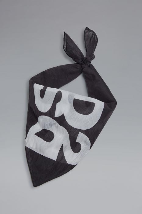 DSQUARED2 Homme Foulard Noir Taille OneSize 100% Coton