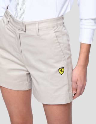 Scuderia Ferrari Online Store - Stretch gabardine women's shorts - Shorts