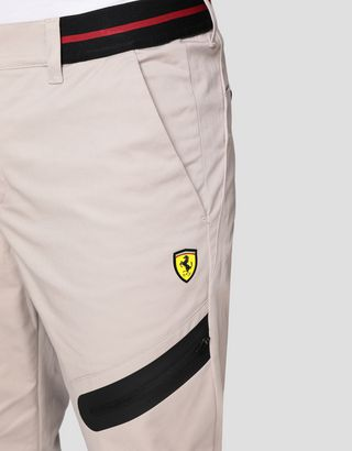 Scuderia Ferrari Online Store - Men's chinos with elastic waist - 5-pocket-pants