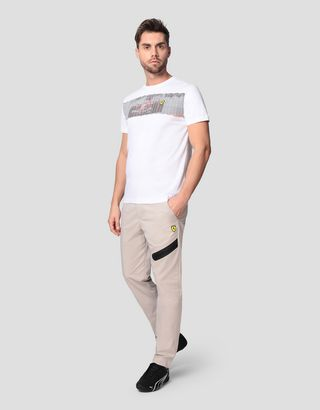 Scuderia Ferrari Online Store - Men's chinos with stretch tape - 5-pocket trousers