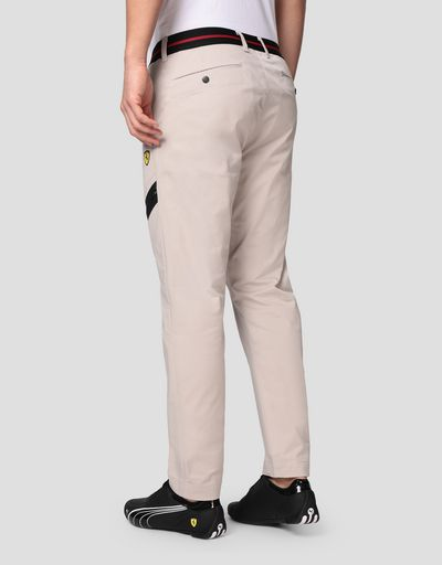 Men's chinos with elastic waist