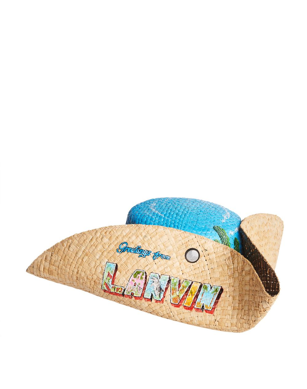 PAINTED STRAW HAT - Lanvin