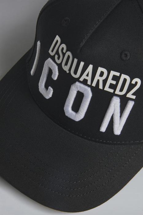 DSQUARED2 Kids Chapeau Noir Taille I 100% Coton