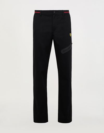 Men's chinos with stretch tape