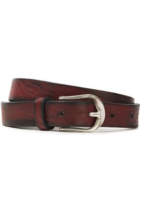 IRO Saba cracked-leather belt