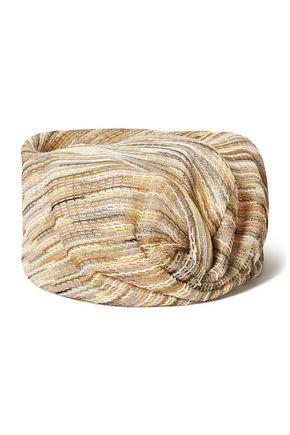 MISSONI Twisted crochet-knit turban