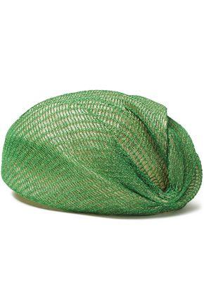 MISSONI Layered metallic open-knit and straw turban