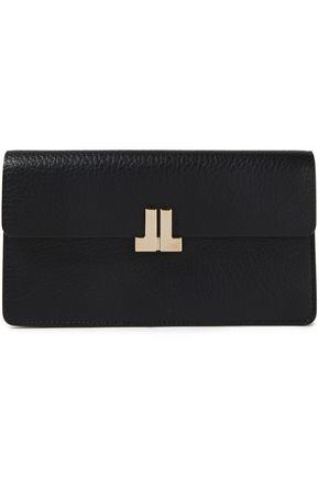 LANVIN Appliquéd textured-leather wallet