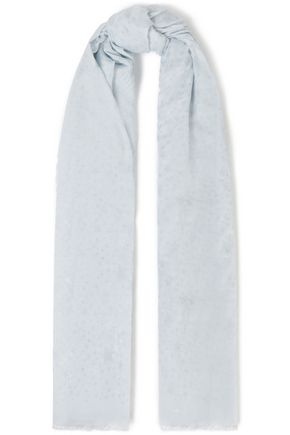 STELLA McCARTNEY Metallic printed modal and silk-blend chiffon scarf