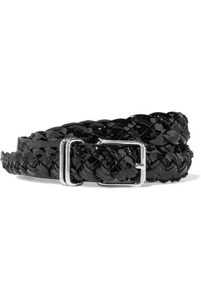 IRO Besano braided patent-leather belt
