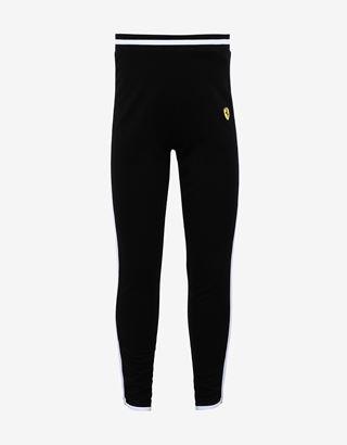 Scuderia Ferrari Online Store - Girls' Milano rib leggings with contrast details - Joggers