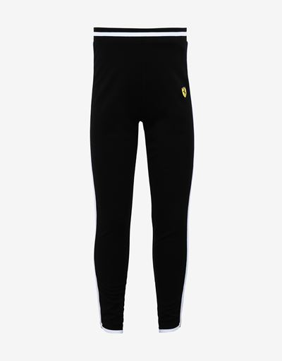 Girls' Milano rib leggings with contrast details