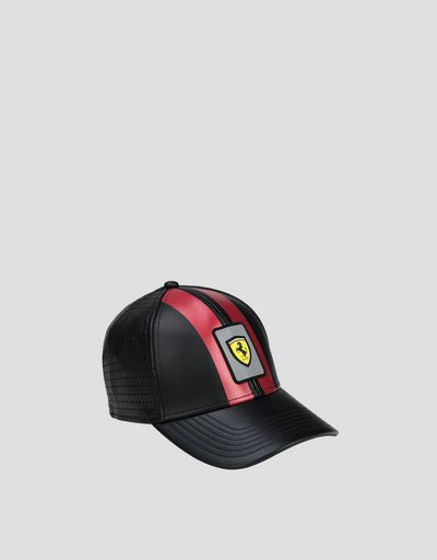 Scuderia Ferrari Online Store - Leather Racing cap - Baseball Caps