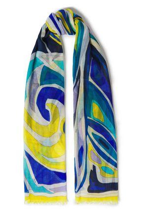 EMILIO PUCCI Printed cashmere-gauze scarf