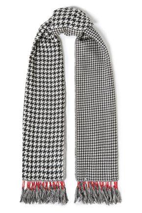 RAG & BONE Fringed houndstooth jacquard scarf