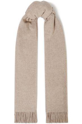 RAG & BONE Fringe-trimmed wool-felt scarf
