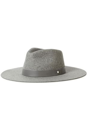 RAG & BONE レザートリム ウールフェルト ソフト帽