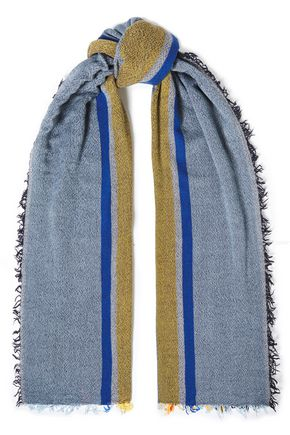 RAG & BONE Fringed jacquard-knit scarf